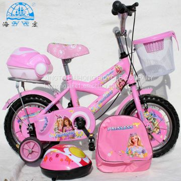 Best popular lovely children bicycle with made in china kids bike with schoolbag