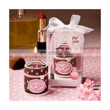 Pampering Pleasures Collection Makeup Case Candle Favor