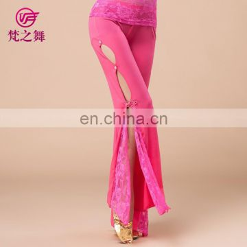 Sexy nice lace crystal professional belly dance pants K-4015#