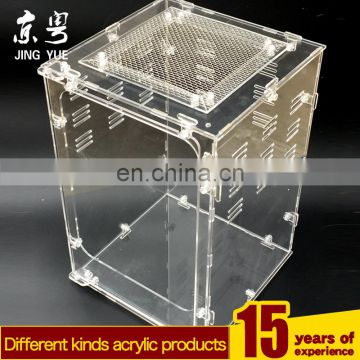popular lockable acrylic reptile snake pet display cage