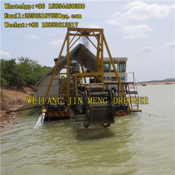 Easy To Install Gold Dredge Machine Bucket Chain Gold Dredger 20 M