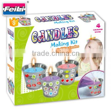 2016 hot selling candle making kits with 3 metal cups children craft kits diy craft set for kids