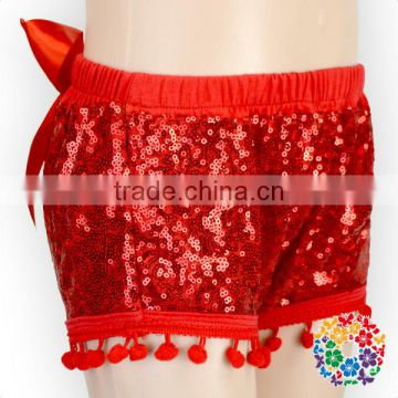 Boutique Toddler Sequin Shorts Ribbon Bow Sequin Organic Baby Bloomers Gold Sequin Shorts