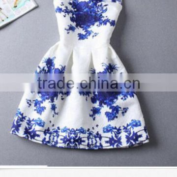 Walson walson Vintage summer TuTu Dress for women Digital Evening Party Printing Dresses