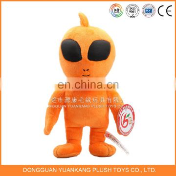 "10"" custom embroidery mascot plush stuffed alien doll toy"