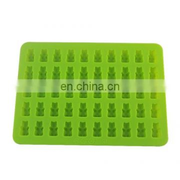 Dropshipping 2 PCS 50 Holes Small Bear Chocolate Tray Silicone Mold Cookie Mold Candy Mold
