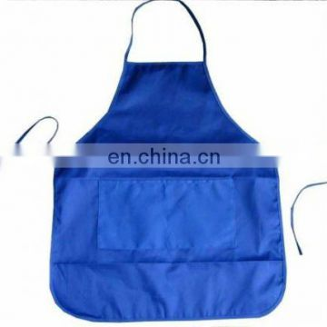 eco twill polyester+cotton kitchen apron with pocket