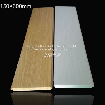 150*600mm Aluminum Clip in Ceiling, Rolled Coated Aluminum Ceiling for Restroom