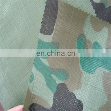 High quality camouflage poly tarps used for camping, hunting and army training