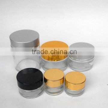 Personal Care Container Different Size Available Round 80ml Size Cosmetic Glass Cream Jar With Lid