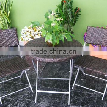 Environment and durable garden folding chairs with rattan outdoor furniture 2012