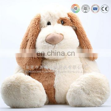 plush brown dog with dog collar soft stuffed puppy doll cartoon animal toy