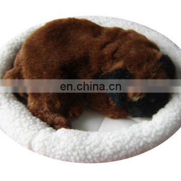 2014 Top New Fashion simulation animal Snoring & breathing dog plush toys