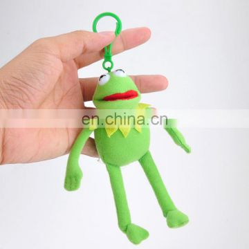Wholesale big eye plush stuffed frog animal toy with long legs plush backpack clip toys