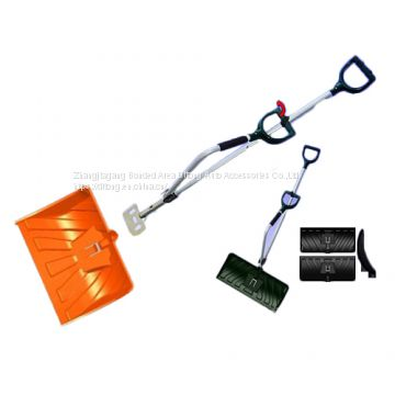 Two handle labour saving ice snow shovel power lift snow thrower