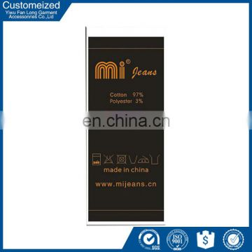 Low moq wholesale shoe care instruction label