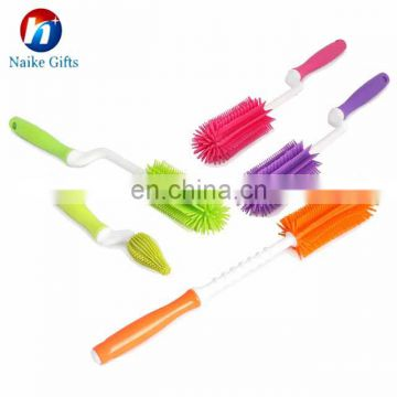 Amazon Hot Selling High Quality Silicone Washing Brush For Baby Bottle