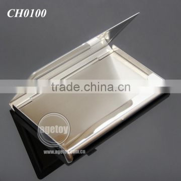 High Quality Pocket Business Card Holder Stainless Steel Plated Silver Concavity Metal Blank Card Case