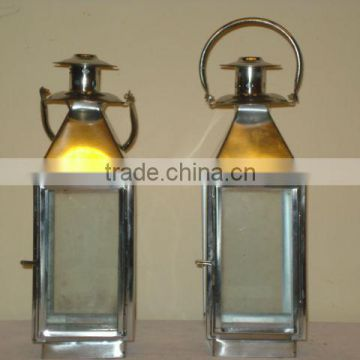 Candle Decorative Table Lantern,Silver Metal Lanterns,Designer Metal Lanterns