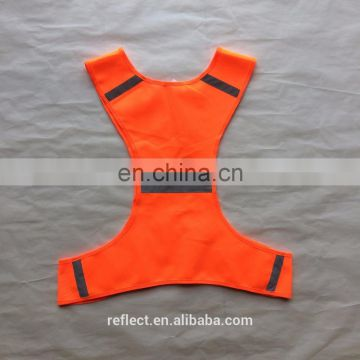 2017 hot sale 100 gsm orange mesh running vest