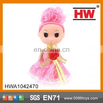 Most Popular 3 inch mini doll toy lavely small craft doll