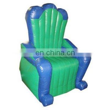2012 blue&green inflatable throne