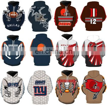 100% Pre-Shrunk Cotton Hoodies USA National Football Teams Hooded sweatshirts Sweater