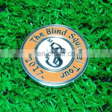 New arrival big small golf ball marker with custom logos for 2017