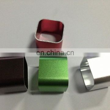 New colorful product aluminum profile professional extruded technique anodized finishing rectangle powder bank case