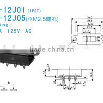 SS-12G01-12G05 Slide Switch