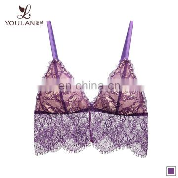 Custom lingerie Stylish Sexy beautiful Bra design Sex Wholesale Lace Bralette