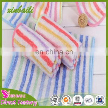 wholesale stripe bamboo fiber baby towel with good absorption