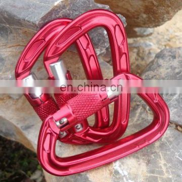 Strong Aviation Aluminum A7075 Rock Climbing Carabiner with Screw Lock