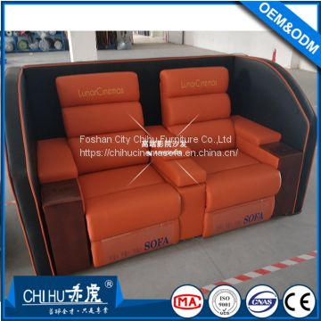 Newly design home theater sofa,genuine leather power recliner love ...