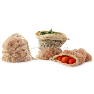 Mesh Produce Bag, Reusable Cotton Bags, Mesh Bag, Organic Grocery Bag, Cotton Produce Bags, Reusable Mesh Produce Bag