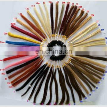 colored double drawn tape in hair extension customized hair product