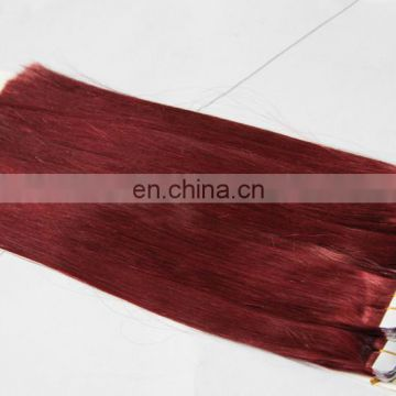 Different Hair Texture And Colors Available Wholesale Brazilian Tape Hair Extensions