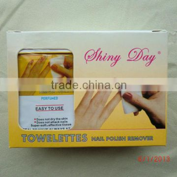 SINGLE PACK NAIL POLISH REMOVER WET WIPES, NO ACETONE INGREDIENT
