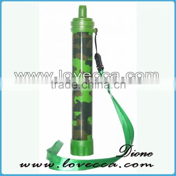 6000ML outdoor survival emergency water filter straw , portable water straw