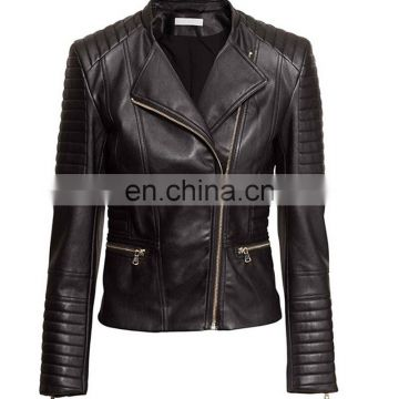 New Black Women Fashion Slim Biker Motorcycle PU Soft Leather Zipper Jacket Coat Faux Leather Jacket Winter Jacket