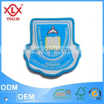 High brightness woven badges for garment