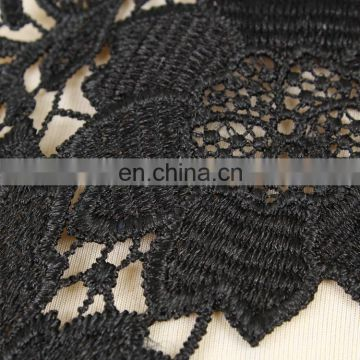 china wholesale black flower collar lace polyester