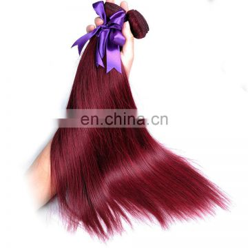 Human hair bundles silky straight 99j remy virgin hair