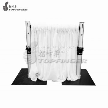 6\'-10\' Crossbar Drape Support Backdrop Pipe Drape With Base Plate