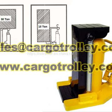 Lifting toe jack capacity pictures display