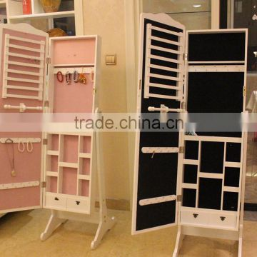 Chinese floor mirror jewelry display cabinet                                                                         Quality Choice