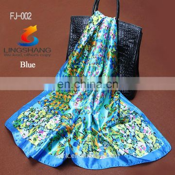 Fashion Square Bufandas Cuellos,fashion Pattern Short Feminino, Satin Silk Head Scarves