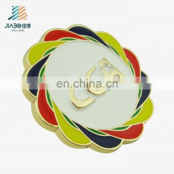 custom metal CCA flower enamel pop badge