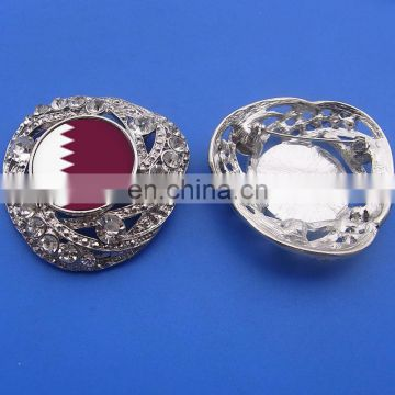 Qatar printed flag metal lapel pin badge for national day souvenir