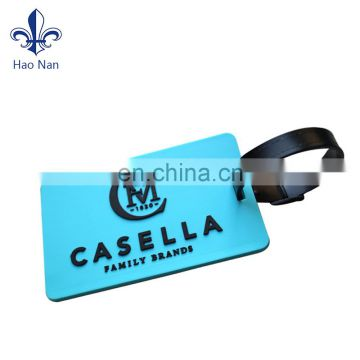 fashional design Soft pvc luggage tag with customized logo